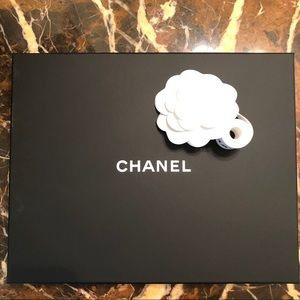 Chanel NEW Necklace Storage Case, Ribbon, & Flower